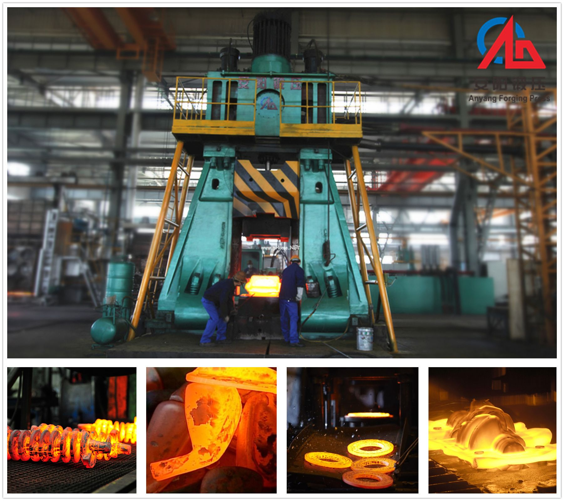 Alloy tool steel forging process and forging machine