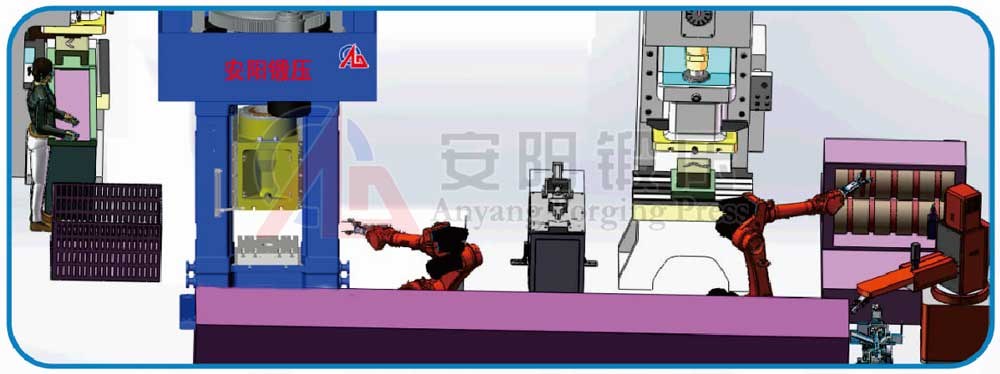 direct electrically driven screw press automatic forging line