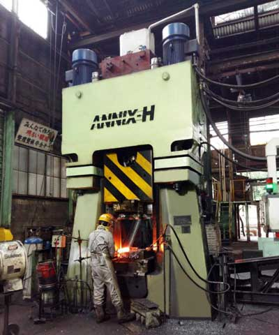 63kJ CNC forging hammer in Japan